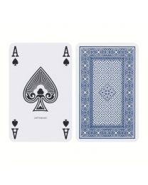 Ace Playing Cards Regular Index Linen Finish Blue