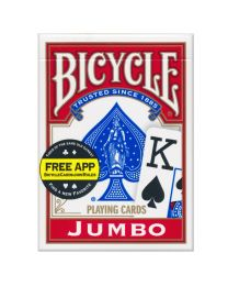 Bicycle Jumbo Index Playing Cards Red