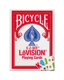 Bicycle E-Z-SEE LōVISION Playing Cards Red