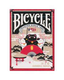 Bicycle Maneki Neko Playing Cards Red
