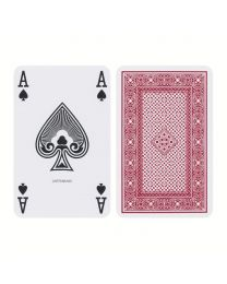 Ace Playing Cards Regular Index Linen Finish Red