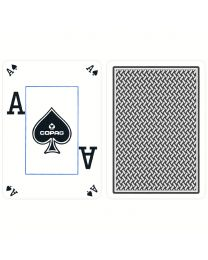 COPAG Playing Cards Texas Hold'em Plastic Peek Index Blue