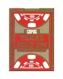 COPAG Cards Texas Hold'Em Gold Jumbo Index Red