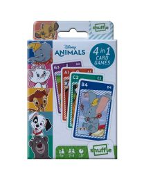 Disney Animals 4 in 1 Playing Card Games