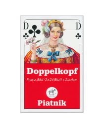 Doppelkopf Playing Cards French Faces Piatnik