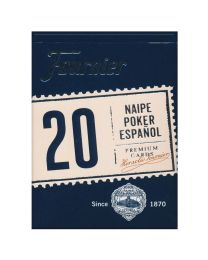 Fournier Poker 20 Naipe Poker Español Azul