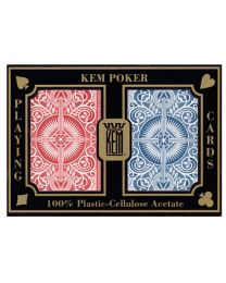 KEM Playing Cards 2-Pack Blue and Red