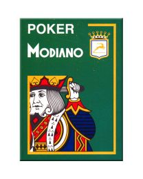 Modiano Poker Cards 4 Jumbo Index Dark Green