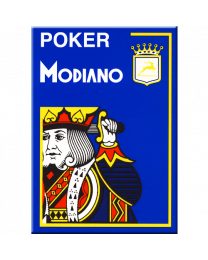 Modiano Poker Cards 4 Jumbo Index Blue