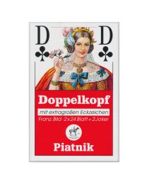 Doppelkopf Playing Cards with Extra Large Numbers Piatnik