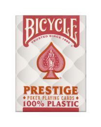 Bicycle Prestige Poker Playing Cards Plastic Red