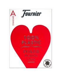 Plastic Poker Cards Fournier Standard Red