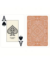 Plastic Playing Cards Modiano Texas Poker Brown