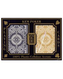 KEM Arrow Wide Jumbo Playing Cards Gold & Black