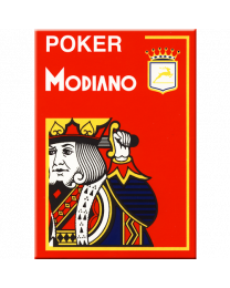 Modiano Poker Cards 4 Jumbo Index Red
