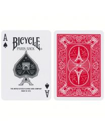 Bicycle Paris Back Playing Cards Red
