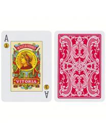 Fournier Poker 20 Naipe Poker Español Rojo