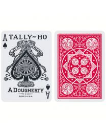 Tally-Ho Fan Back Playing Cards Red