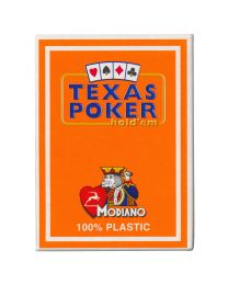 Plastic Playing Cards Modiano Texas Poker Orange