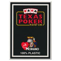 Plastic Playing Cards Modiano Texas Poker Black
