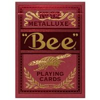 Bee Red Metalluxe Playing Cards