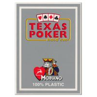 Plastic Playing Cards Modiano Texas Poker Gray
