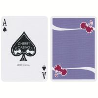 Cherry Casino Fremonts Desert Inn Purple Playing Cards