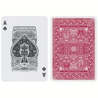 High Victorian Playing Cards Red