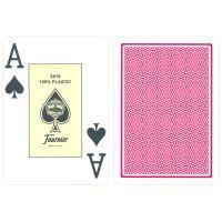 Plastic Cards Fournier Jumbo Red