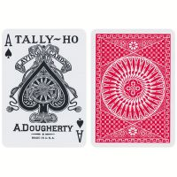 Tally-Ho Circle Back Playing Cards Red